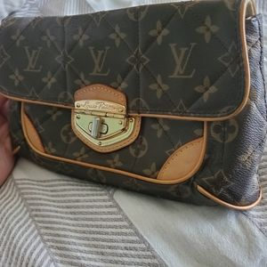 LV Luxury Leather Clutch